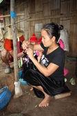 Karen village in Thailand — Stock Photo