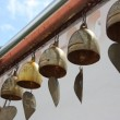 Heart bells at Buddhist temple - Stock Photo