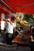 Ice cream street vendor in Turkey — Stock Photo