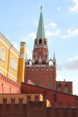 The tower and the wall of the Kremlin — Stock Photo