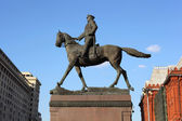 Monument Georgy Zhukov on Manege Square in Moscow, Russia. — Stock Photo