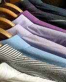 Man shirts on hangers — Foto de Stock