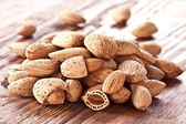 Nuts almonds — Stock Photo