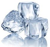 Drie ijsblokjes — Stockfoto