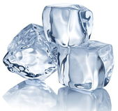 Three ice cubes — Stockfoto