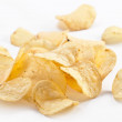 Potato chips isolated on white background - Stok fotoraf