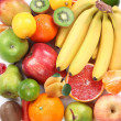 Group of fruits takes up the entire frame. - Stock Photo