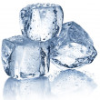 Three ice cubes - Stock Photo