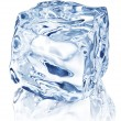 Ice cube on white background. - Stockfoto