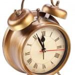 Alarm clock isolated on white. — Stock Photo