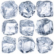 Cubes of ice - Stock Photo