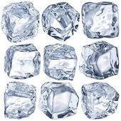 多维数据集中的冰 — 图库照片