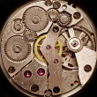 Mechanical clockwork. Close up shot. — Photo