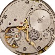 Mechanical clockwork. Close up shot. - Stockfoto