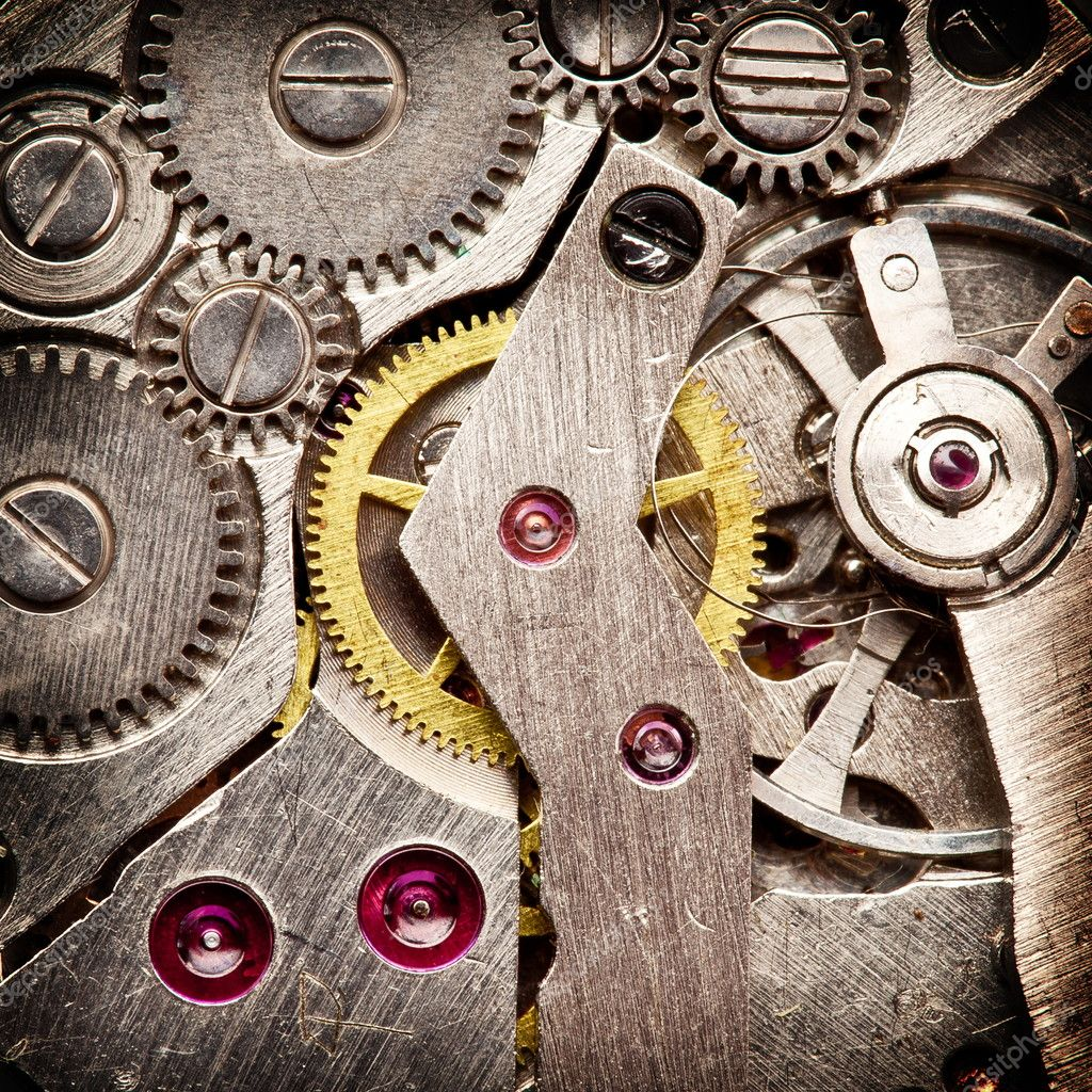 Mechanical clockwork. Close up shot. — Stock Photo #9599249