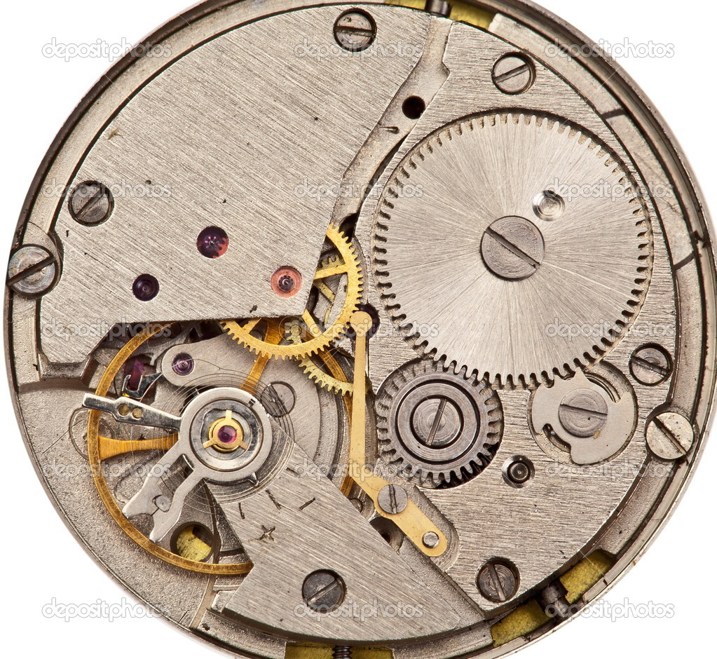 Mechanical clockwork. Close up shot. — Stock Photo #9599411
