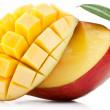 Mango with slices — Stock Photo
