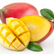 Stock Photo: Mango with slices