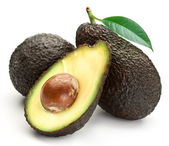Avocado con foglie — Foto Stock