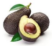 авокадо с листьями — Стоковое фото