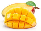 Mango with slices — Stock Photo