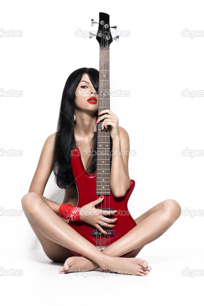 Guitar and woman sharing 4
