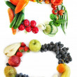 Vegetables and fruits frames — Stock Photo