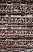 Wooden Hindu relief — Stock Photo