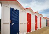 Bathhouses in row — Stock Photo