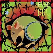 Zvířecí horoskop - krysa — Stock vektor