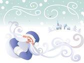 Winter greeting — Stock Vector