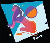 Leo symbol — Stock Vector