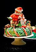 Santa party cake — Stock Photo