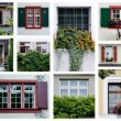 Swiss windows - Stock Photo
