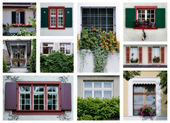 Swiss windows — Stock Photo