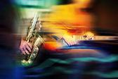 основные джаз инструменты — Стоковое фото