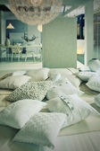 Pillows in living room — Foto de Stock