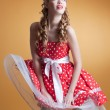 Pin Up girl — Lizenzfreies Foto