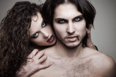 Love vampires — Stock Photo