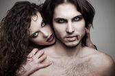 älska vampyrer — Stockfoto