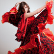 Flamenco, studio shot — Stock Photo