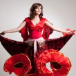 Flamenco, studio shot — Stock Photo #8072623