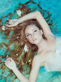 Mořská panna, detailní portrét — Stock fotografie