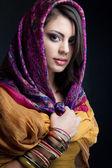 Linda garota indiana — Foto Stock