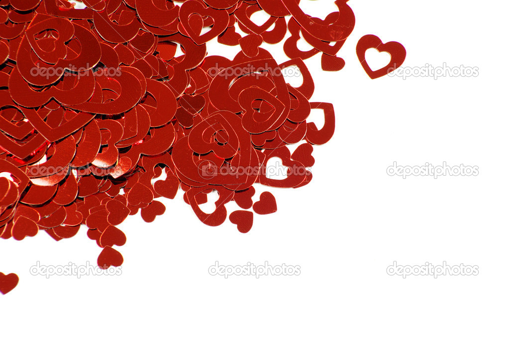 Hearts Valentine's day on white — Stock Photo #8810196