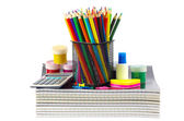 Stationery and notebooks — Stock Photo