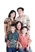Loving Indonesian Family — Stock Photo