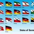 Flag Set of all German States — Foto Stock