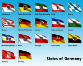 Flag Set of all German States — Stock Photo