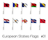Flag Set of European Countries — Stok fotoğraf